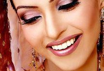 India & hijab  /Arabic /makeup/Henna
