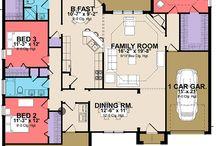 tek kat ev planları