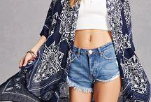 Kimonos and cardigans