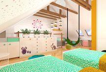 BEROUN, dětský pokoj v podkroví