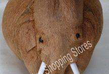 Coconut Husk Sculptures / Wonderful Handicraft gift item from single coconut
