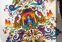 Colorando La Foresta Incantata di Johanna Basford