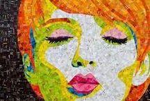 Collage de femme