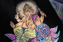 ganesh chaturthi / on the occasion of ganesh chaturthi made paintings as a dedication to him... ganpati bappa morya
