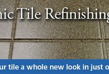 Tile Makeover / Check out these tile makeovers including refinishing by Miracle Method. We can change the tile color and the grout is cleaned and permanently sealed!