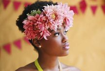 Hair Flowers / Head wreaths, crowns, combs- the sky's the limit when it comes to hair flowers!