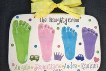 Ceramic Keepsakes - Footprints! / They may be footprints of your child or feet prints of your kids...whatever the case, they only get bigger! So enjoy when tiny :)