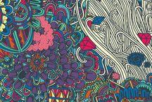 boho&hippie tło / #boho #hippie #tło #tapeta #abstrakcja #wzory