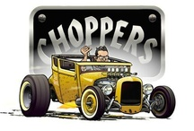 "Aaron Kahan / Member of Burbank Choppers car club.  Owner of Bad News a '27 Model T coupe featured on TV show ""Rides"".  Art director for Rod and Custom magazine. / by Kevin Tanaka"