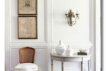 White Interiors / A look at white rooms with splashes of color from art and accessories.