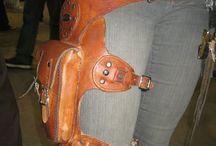сумка на ноге