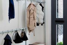 Opbergen / garderobekast, stofzuiger- en meterkast, wasmachine en droger, drooghok, opberghok