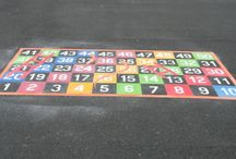 playground snakes and ladders / Snakes and Ladders for the school playground.