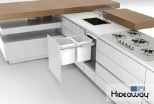 Hideaway Bins / Kitchen / Keep waste hidden out of sight in the kitchen with a Hideaway Bin. A Hideaway Bin can be incorporated into an existing kitchen or added into a new kitchen design.
