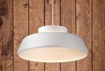PONYO   Exenia Lighting / PONYO   PENDANT-CEILING LAMPS   Exenia Lighting. Suspension lamp, biemission light with LED 230V light source. Body and canopy in spun aluminum and varnished in brick red, matt white, matt black, baby blue or concrete grey.