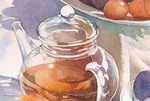 수채화(유리병)
