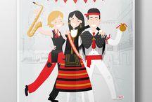 Ilustraciones personalizadas mdebenito / Laminas ilustradas de personas por mdebenito