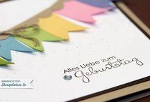 Geburtstagskarten / Schöne Geburtstagskarten, hauptsächlich von Stampin' Up!