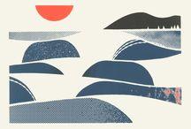 Illustration : landscape/cityscape