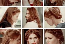 Lydia Martin hairstyle