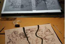 sketchbook and Line art