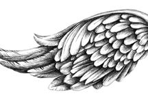 drawing of wings angels tattoo
