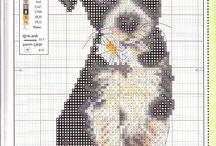 punto croce - cani e gatti