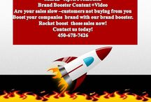 Brand Booster  / Want to booster your companies brand try our brand booster