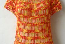 Blusas, tops e coletes / Lindas peças em crochet feito à mão