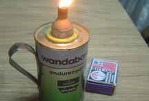 lamparina e candelabro