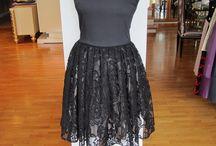 Lina Liri's Elegant High Fashion  Dress Fourreau  With ,Suede & Italian Lace.