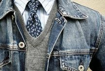 Denim jacket man style