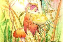 Феи,феечки, милые девчушки. / иллюстрации, рисунки сказочных и фантазийных персонажей.