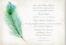 Peacock-themed Wedding Invitations