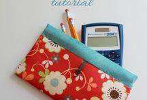Sewing -- snap tape & frame pouches