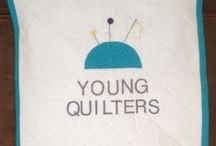 Young Quilters banners / Young Quilters show their pride in the new YQ logo!