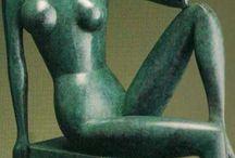 modern sculpture / novodobé abstraktní sochařství