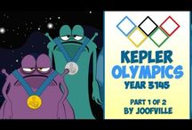Kepler 22B Olympics / My mini series on the Olympic Games recently held on the planet Kepler 22B. The planet Kepler 22b was discovered recently by the Kepler Telescope.It's six hundred light years away from earth. This is my funny take on what's happening on that planet.