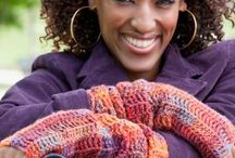 Crochet Gloves / Mittens / Fingerless / by Marie Cabagnaro Bodnar-Doty