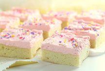 Fluffy sugar cookie bars