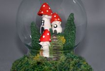 Whimsical Villages / Whimsical Fairy and Mushroom Cottages