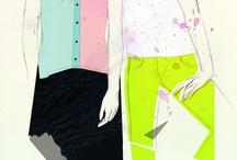Female fashion art