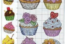 kitchen - cake ( κουζίνα - κέικ / Σχέδια για σταυροβελονια