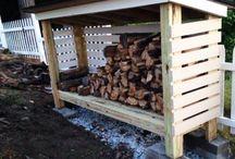 Capanno per legna da ardere