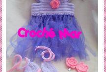 vestidos tejidos por Croché Mar