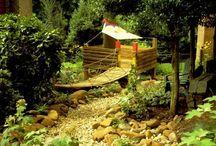 espace jeu pour enfant dans jardin
