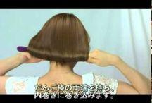coiffure raccourcir chev long avec boudin ouvert