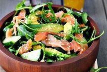 salads with smoked products