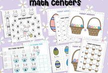Easter MATH CENTERS Kindergarten