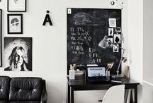 b&w / Black and white interiors